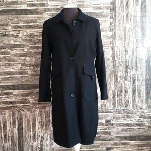 1 Madison Black Blazer/Trench Coat Size Medium Lng